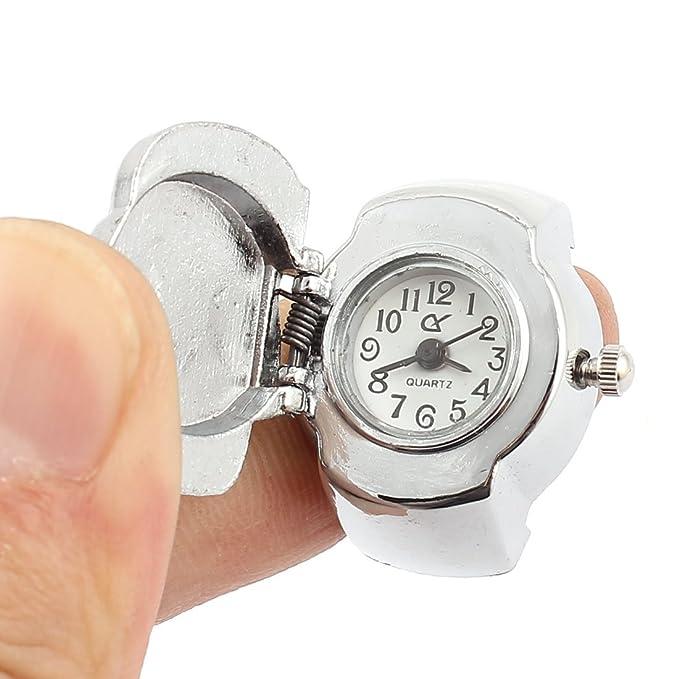 Amazon.com : eDealMax El anillo de dedo de la cubierta del cráneo del Metal reloj de bolsillo Rojo 2pcs tono de Plata : Sports & Outdoors