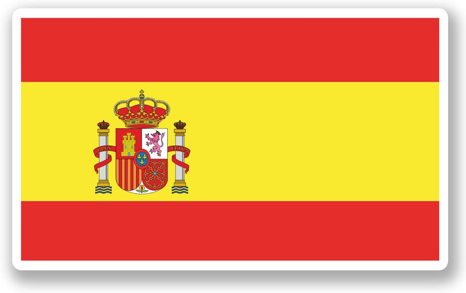 2 x 10cm Spain Spanish Flag Vinyl Sticker iPad Laptop Car Travel Luggage #5271: Amazon.es: Coche y moto