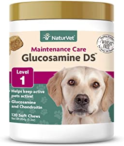 NaturVet – Glucosamine DS - Level 1 Maintenance Care – Preventative Care to Maintain Healthy Cartilage & Joint Function – Enhanced with Glucosamine & Chondroitin