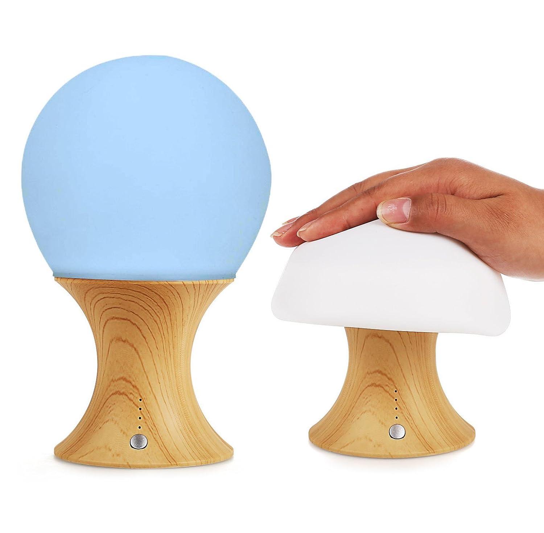 Amazon.com: HJIAN LED Night Light Baby Nursery Lamp Mushroom Lamp Nursery  Décor Lamps Silicone Lights Timer Setting Light Table/Desk Lamp Portable  Lamp: ...
