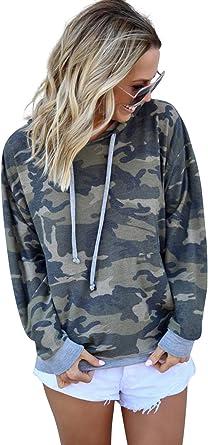 Femme Sweat Camouflage avec Capuche Hip Hop Sweatshirt