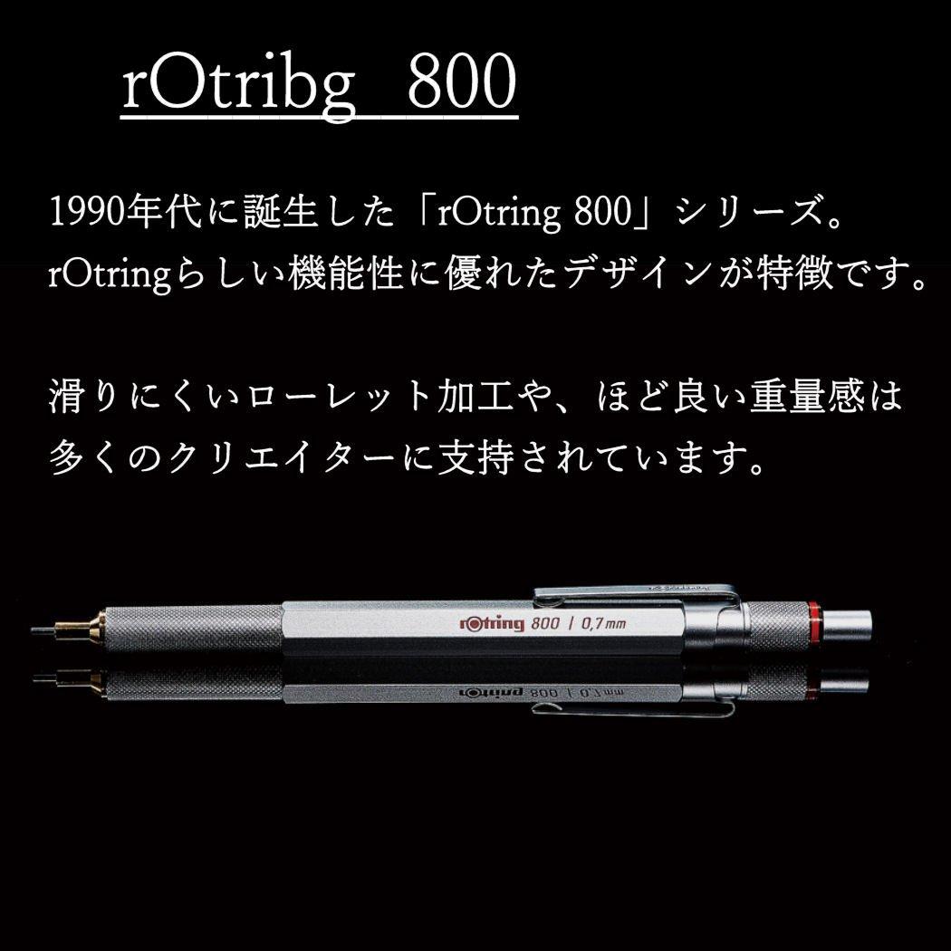 Colore Matita a Punta fine 0,5 Nero rOtring 800