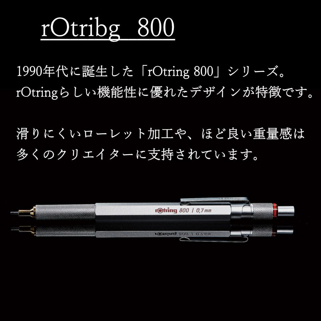 rOtring 1904449 800 Retractable Mechanical Pencil, 0.5 mm, Silver Barrel by Rotring (Image #2)