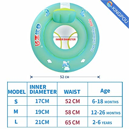 Free Swimming Baby Libre natación bebé diseño de bebé asiento barco flotador inflable con antivuelco redondo: Amazon.es: Hogar