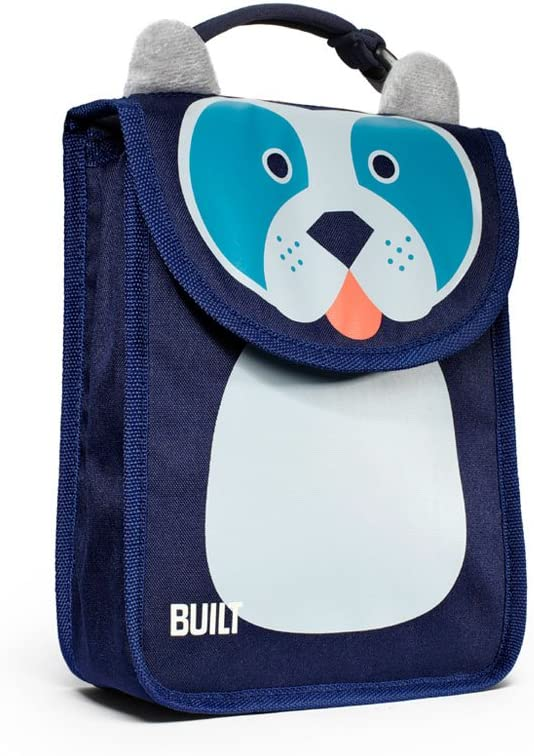Built NY Big Apple Buddies Reusable Insulated Kid's Lunch Box Sack, Delancey Doggie