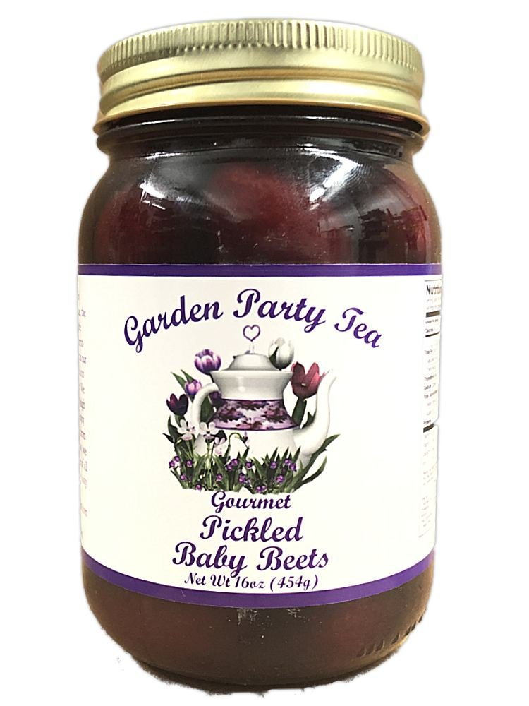 Gourmet Pickled Baby Beets 16oz Jar by Garden Party Tea