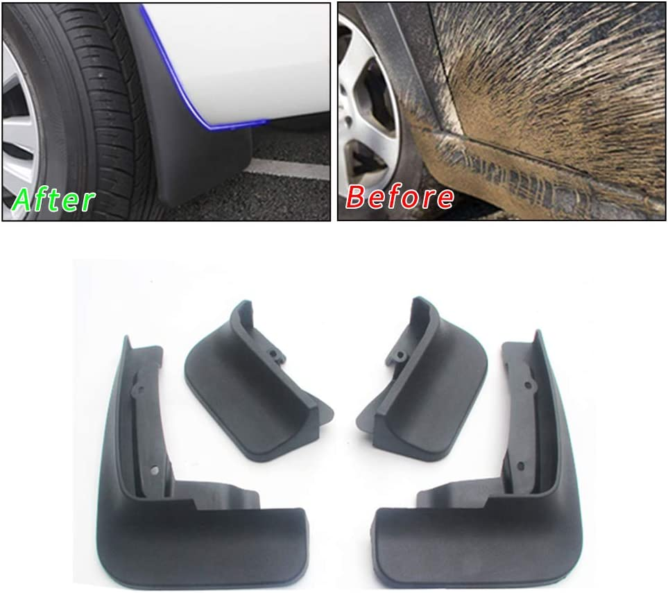 Upgraded Car Mud Flaps Mudguards for VOLKSWAGEN Touareg R-Line 2018-2019 Front Rear Splash Guards Car Fender Styling /& Body Fittings Black 4Pcs