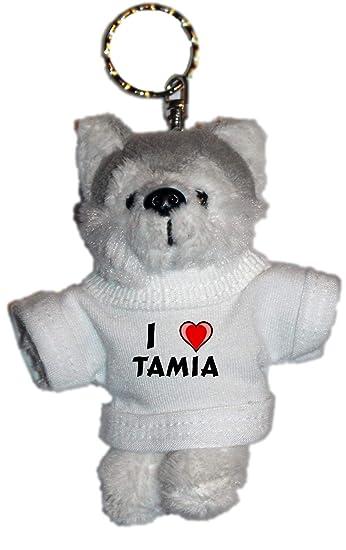 Amazon.com: mouse de peluche llavero con I Love Tamia ...