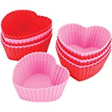 Wilton Heart Silicone Baking Cups, 12 Count