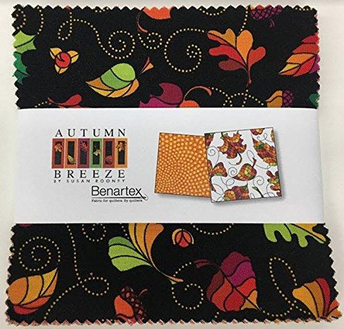 Susan Rooney Autumn Breeze 5X5 Pack 42 5-inch Squares Charm Pack Benartex (Four Seasons Quilt Shop)