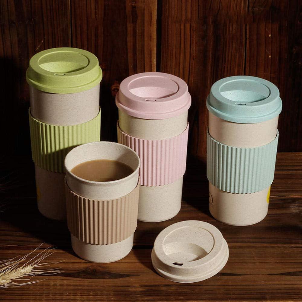 Taza de café y taza reutilizables de la cáscara de arroz ...