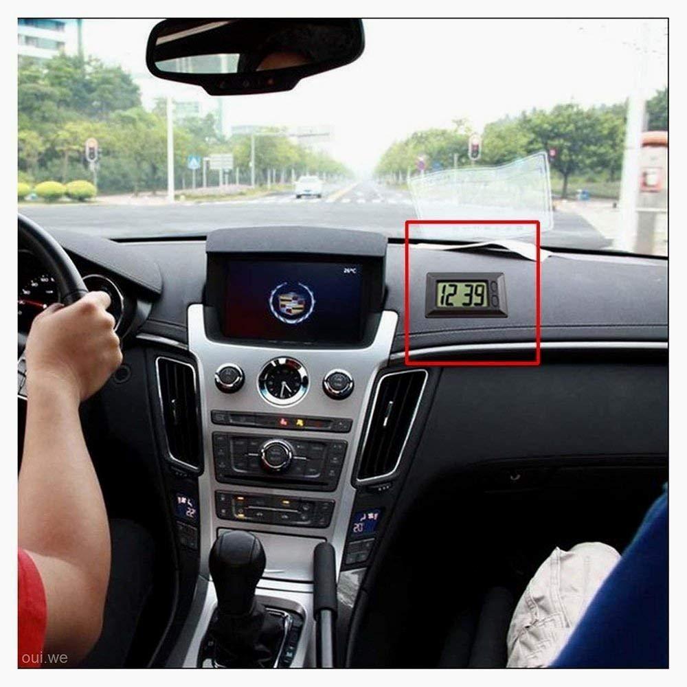 Beito LCD Ultra-Mince num/érique Affichage du v/éhicule Tableau de Bord de Voiture Horloge avec Cool Calendar