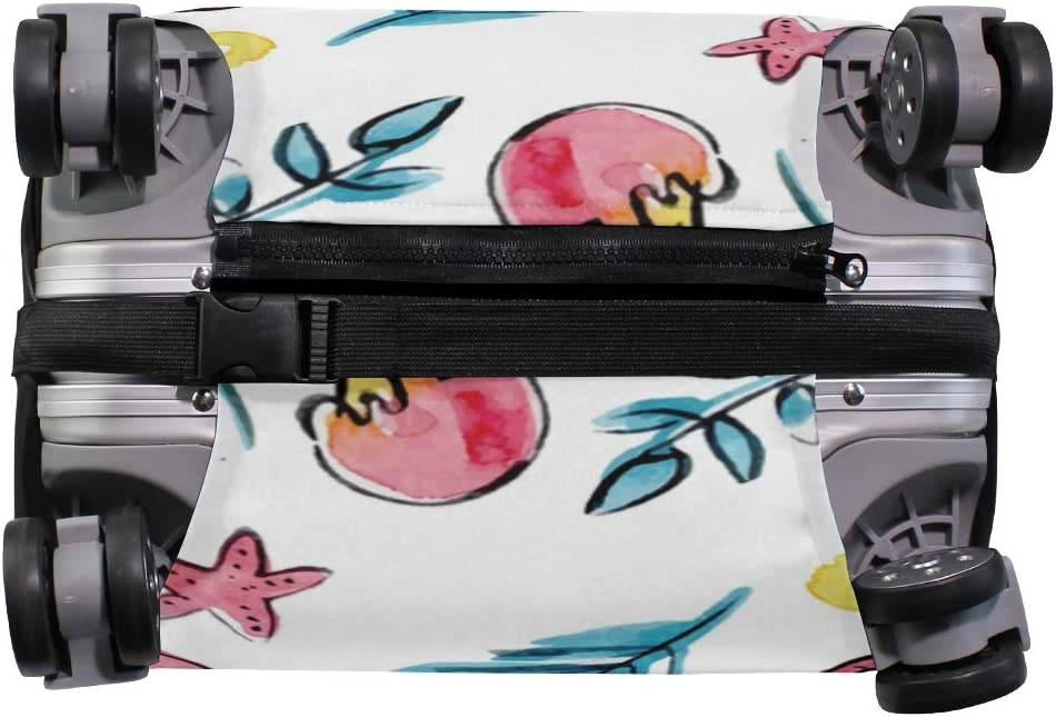 Travel Luggage Cover Ice Cream Seashell Flamingo Sun Suitcase Protector