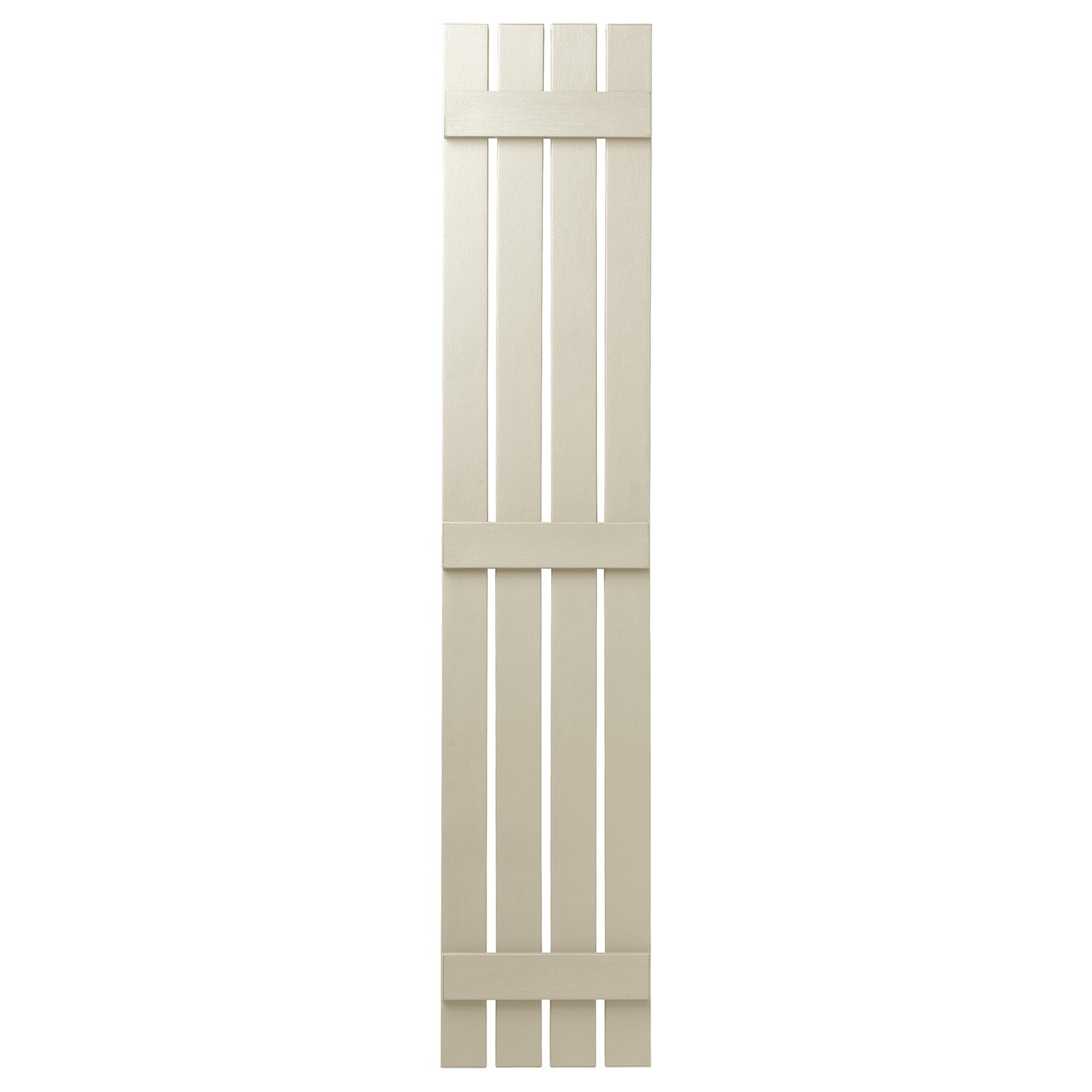 Ply Gem Shutters and Accents VIN401671 CRM 4 Open Board and Batten Shutter, Sand Dollar