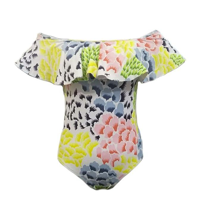 Hallegave Women's Fashion swimwear sexy bikini Halter Straps Swimsuits Bathing Suit,Yellow,Xlarge