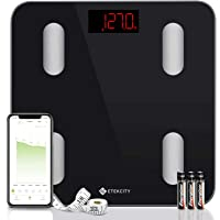 Etekcity Digital Body Weight Scale, Smart Bluetooth Body Fat BMI Scale, Bathroom Weighing Scale Tracks 13 Key Fitness…