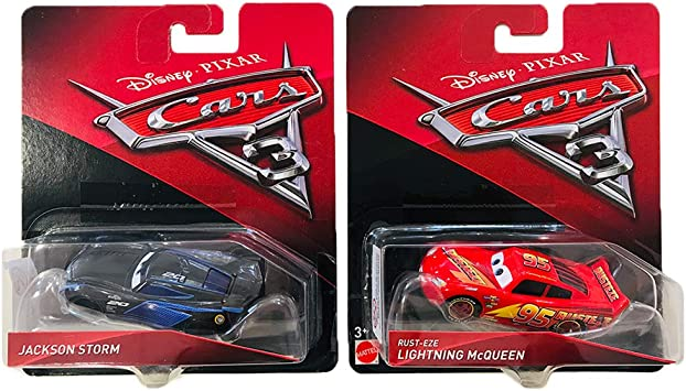 Hot Wheels Jackson Storm & Rust Eze Lightning Mcqueen Disney Pixar ...