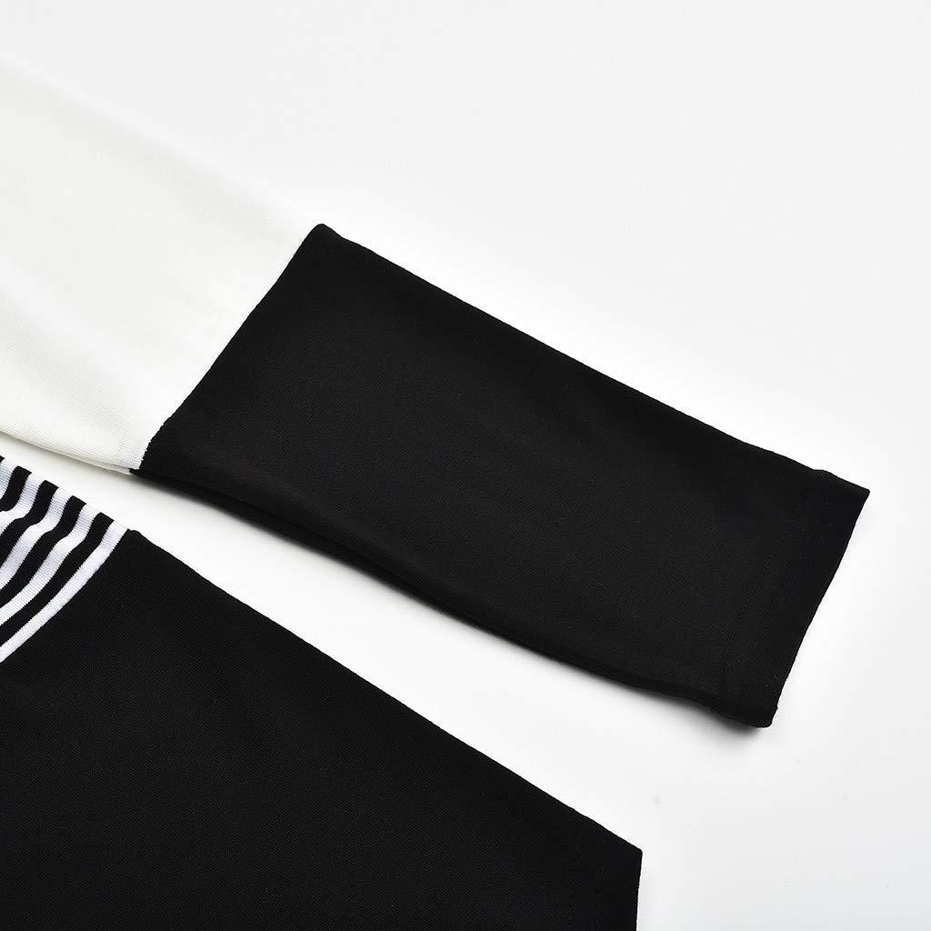 Topgrowth T Shirt Premaman Maglietta a Righe Manica Lunga maternit/à Camicetta A Doppio Strato Blusa Donna Felpa con Cappuccio Allattamento Top