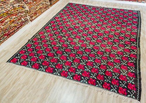Armenian Kilim Rug, Vintage Kilim Rug 7.68x9.51 ft (234x290 cm)