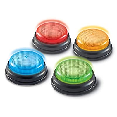Learning Resources Lights and Sounds Buzzers, Game Show and Classroom Buzzers, Set of 4, Ages 3+: Toys & Games