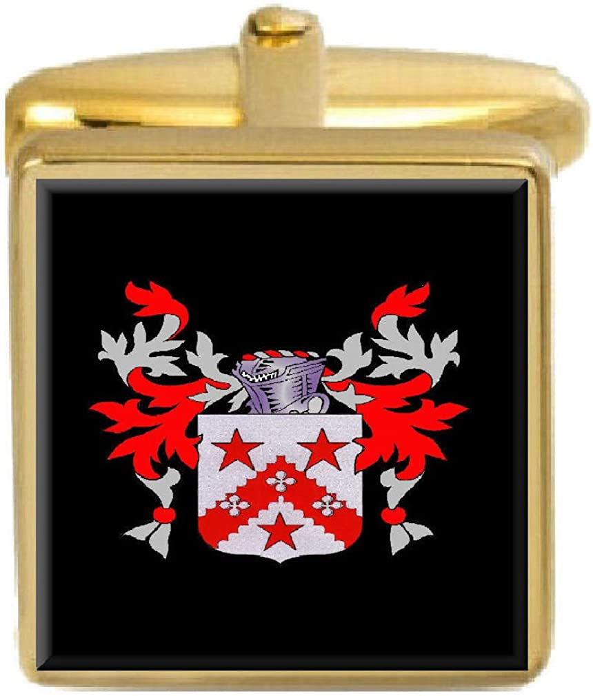 Select Gifts Reat Scotland Family Crest Surname Coat Of Arms Gold Cufflinks Engraved Box