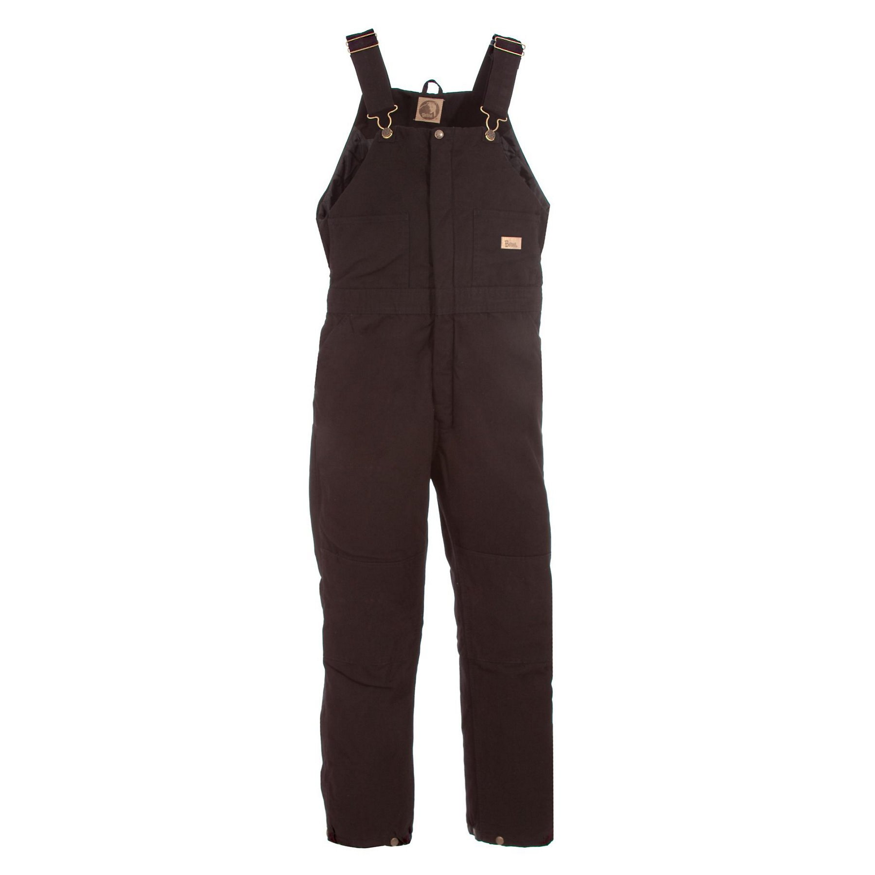 Berne Women's Washed Insulated Bib Overalls Regular Brown MR by Berne
