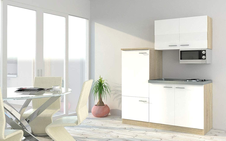 respekta - Bloque de Cocina (160 cm, imitación de Roble), Color Blanco: Amazon.es: Hogar