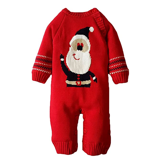 Juleya Xmas Enfantil Boy Girl Mono Knitted Sweater Cotton Outwear: Amazon.es: Ropa y accesorios