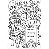 Heartfelt Creations Blushing Rose Background Cling Rubber Stamp