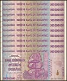 10 x 500 Million zimbabwe Circulated Used 2008 series AA/AB,P-82 For collectors - Genuine Rare