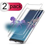 [2-Pack] Galaxy S8 Plus Screen Protector, Auideas Tempered Glass Screen Protector [9H Hardness][Anti-Scratch][Anti-Bubble][3D Curved] [High Definition] [Ultra Clear] for Samsung Galaxy S8 Plus