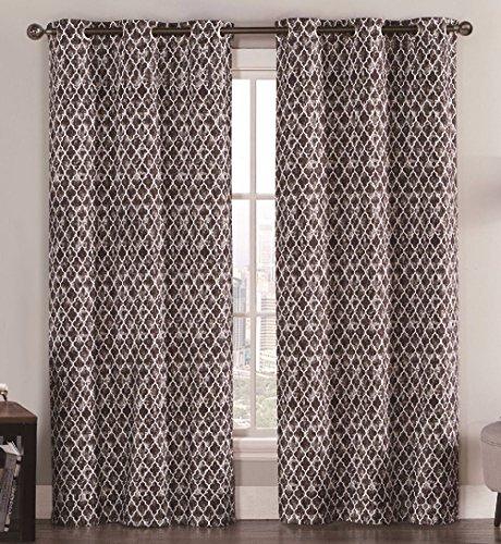 likimen-2-blackout-window-curtains-panel-pair-grommet-drape-thermal-brown-quatrefoil-84
