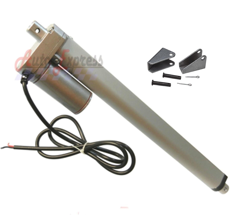 "20/"" inch Linear Actuator w// Brackets Stroke 12V 200 pound lb max Heavy Duty 12V"