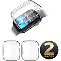 SupCase TPU Protector Case for Apple Watch Series 4 2018/Series 5 2019 [44mm], Built-in Screen Protector Case Soft Clear Case (Clear/Clear)