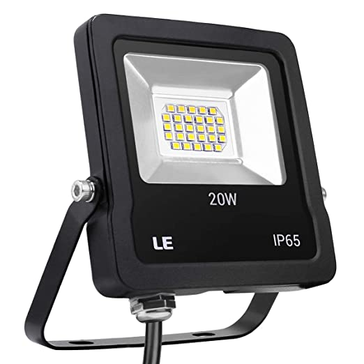 LE Foco LED de 20 W, 1600 Lúmenes, IP65 resistente al agua, Blanco ...