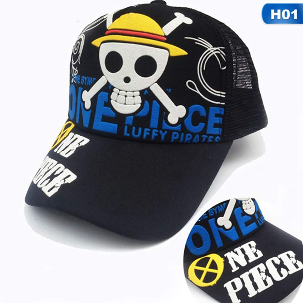 SGOT Naruto Hat One Piece Luffy Skull Logo Cosplay Cap Figure Embroidered Baseball Cap Men and Women Outdoor Sports Cap Fashion Style Naruto
