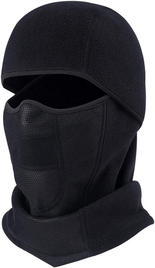 v/élo TEFITI Cagoule Demi visage Wind-poof Hiver chaud pour moto ski camping Headwear Noir randonn/ée