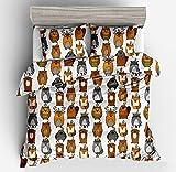 Jwllking LIL'ANIMALS Bedding Sets for Kids,3 Piece Full Size Duvet Cover Set,With hide Zipper,1 Duvet Cover+2 Pillow Shams