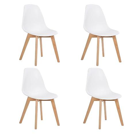 DORAFAIR Set di 4 Sedie Moderne Design Scandinavo Sedia da Pranzo ...