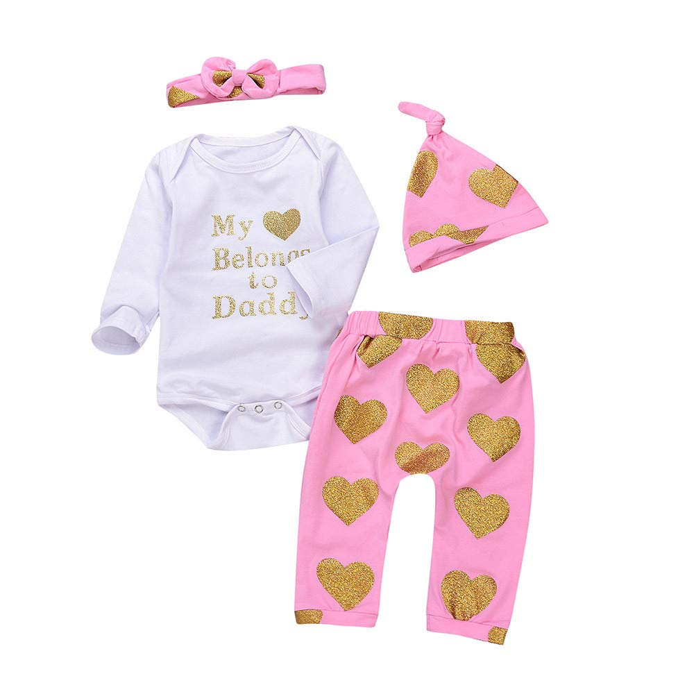 Ensemble de Vêtements Bébé CIELLTE Multicolore Cordiforme Combinaison + Pantalon + Bonnet + Bandeau Costumes de Festival Filles Garçons Mignon