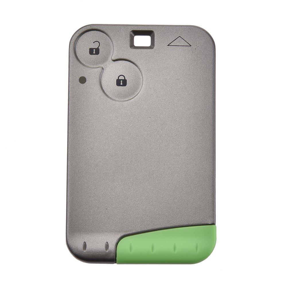 2ボタンスマート車リモートキー433 MHz forルノーLaguna Espaceカードwith PCF 7947チップ&緊急キー( 1個) B07B8LN85X