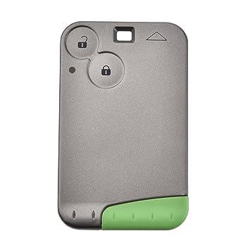 2 Botón Smart coche remoto 433 mhz clave para Renault Laguna Espace tarjeta con la CPT 7947 Chip cartucho de llave de emergencia (1 pieza)