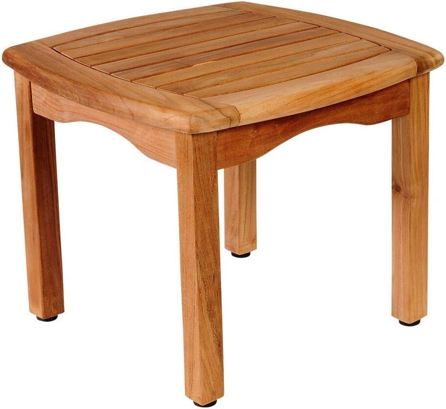 International Home Amazonia Teak Patio End Table in Brown