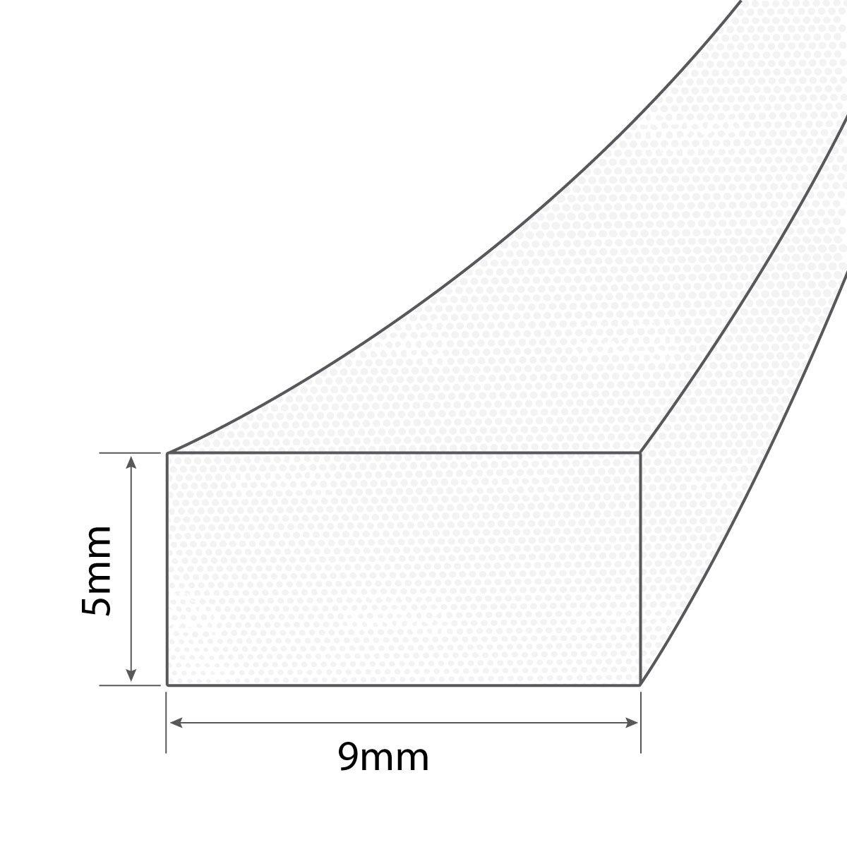 Material PU-Schaum STEIGNER Schaumstoffdichtung selbstklebend I-Profil WEISS 6m 5x9mm