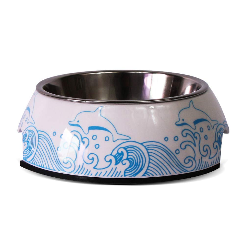 Dolphin L dolphin L Luxury Stainless Steel Pet Bowl,Feeding Bowls for Small Dogs Cats Pet Double Bowl,Non Slip Anti Ogreenurn Easy to Clean Pet Supplies and Decoration,with 3 Size,10 colors,Dolphin-L