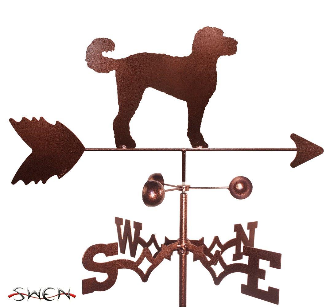 Hand Made LABRADOODLE Dog GARDEN Stake Weathervane ~NEW~