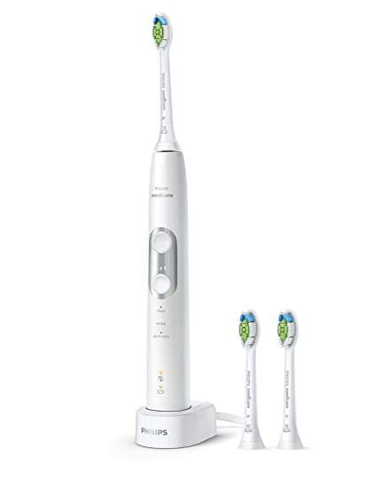 Philips Sonicare HX6877/38 ProtectiveClean 6100 - Cepillo de dientes eléctrico con tecnología de sonido, control de presión, color blanco
