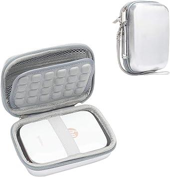 Cpano Galaxy Estuche rígido para HP Sprocket Impresora portátil de Fotos/Polaroid Zip Caja de Funda Protectora para Impresora móvil (Plata láser): Amazon.es: Electrónica