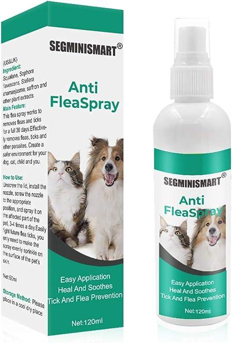 SEGMINISMART Pulgas Spray,Anti Pulgas,Flea Spray,Spray de ...