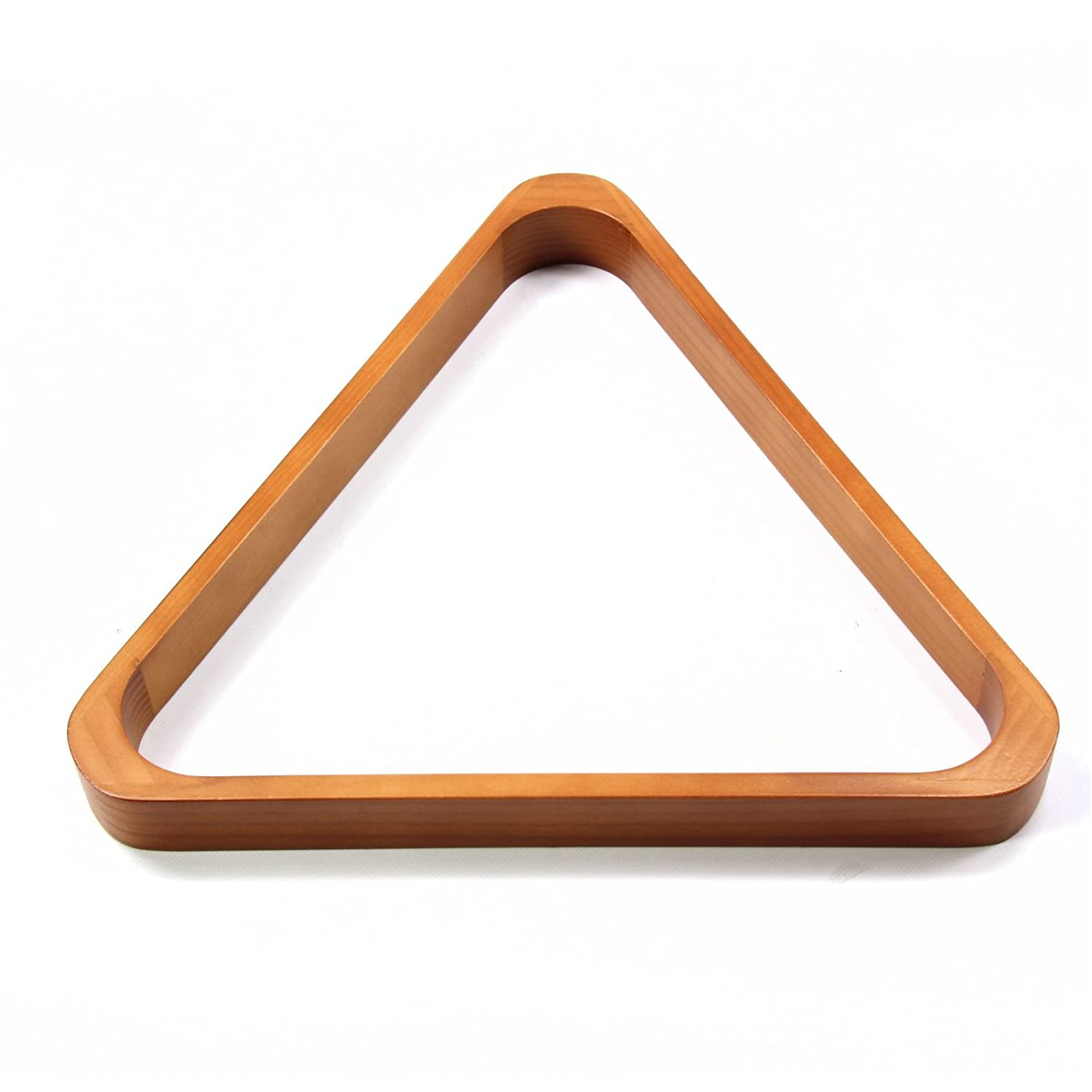 SECONDS - 2 Inch (51mm) 15 Ball OAK COLOURED Wooden Pool Triangle Funky Chalk